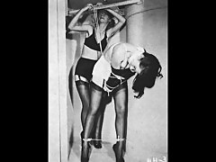 1940s 50s 60s S&M B&D Betty Page picture collage