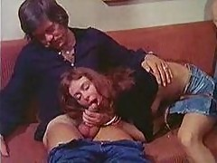 70s porn movie threesome is hot