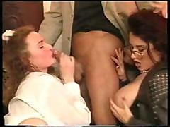 Brunette Piano Teacher Is A Threesome And Single Gets Nailed