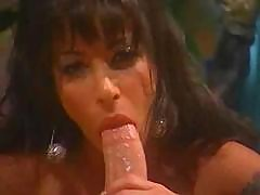 Retro Porn Scene From A Big-tittied Brunette And Her Fuckmate