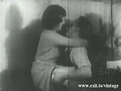 1929 vintage with hairy Kate pleasing Dick