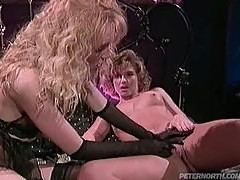 Two hotties go lesbian and share Peter's huge cock