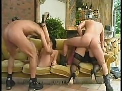 Vintage European Hardcore Porn With A Hot And Heavy Group Foursome