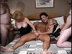 Classic Kitty Fox And Crimson Love Are In A Wild Fucking Orgy