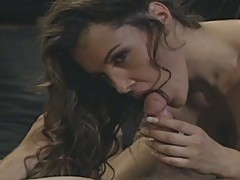 Delightful brunette whore sizzling hot vintage style pussy ramming
