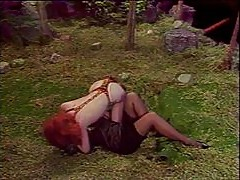 Pussy eaten by a wild redhead