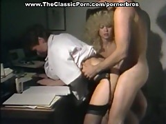 Hot vintage threesome with two slutty milfs