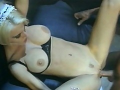 Blonde ho plays with a daddy's cock