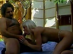Mature blonde Tiffany needs flower watered