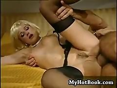 Blonde Babe Federica Tommasi Eats His Rod And Then Gets Both Holes Nailed