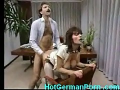 Classic scene of german mature boss fucking employee