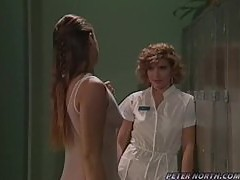 Two horny nurses get naked and start going lesbian