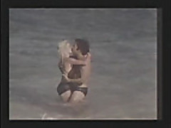 Ginger Lynn fucked on the beach by Ron Jeremy