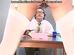 Busty vintage slut gives blowjob