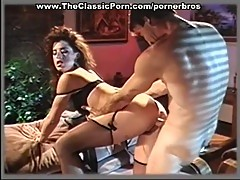 Vintage chick in stockings gets pussy pounded