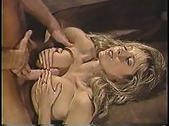 Hairy pussy grinds on cock in retro video