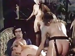 Vintage group sex orgy
