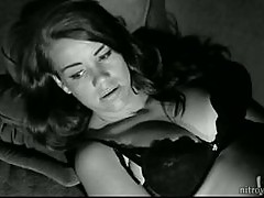 Smoking Hot Vintage Babe Myrna Lorni Walking Around In Sexy Lingerie