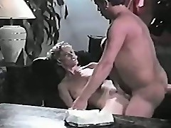 Blond whore bitch gives man her sucking skill