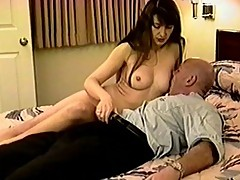 Nasty daddy shaved then fucked a pussy