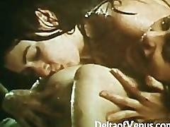 Vintage Lesbians 1970s Young AllNatural Girls Get Wet